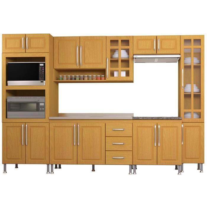 Cozinha Completa Indekes Jade Nova 15 Portas 3 Gavetas 6 Peças
