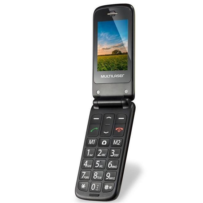 """Celular Multilaser P9043 2,4"""" Dual Chip MP3 Rádio FM Bluetooth"""