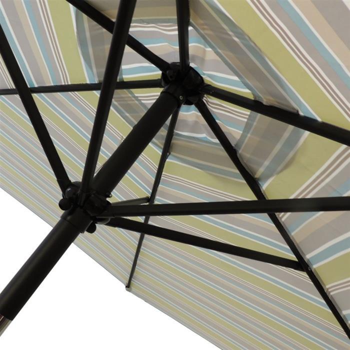 Guarda Sol Benoá FNGB-10 Green Stripe Articulado 2,7 Metros