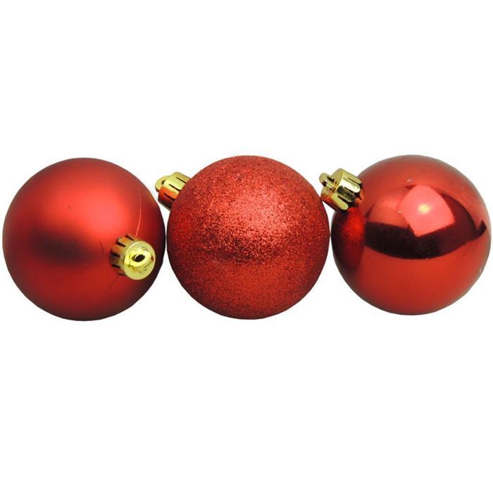 Bolinhas de Natal Benoá AR3/JT088/R com 50 Unidades Vermelho