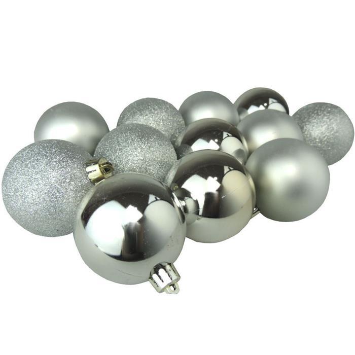 Bolinhas de Natal Benoá AR3/JT090/S com 40 Unidades Prata