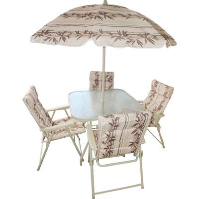 Conjunto Benoá Mesa e 4 Cadeiras DDS1009U com Guarda Sol