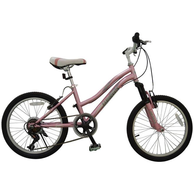 Bicicleta Benoá G20K510 6 Marchas Aro 20 com Suspensão Rosa Claro