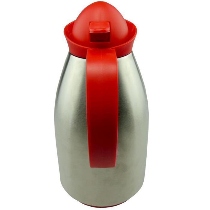 Garrafa Térmica Benoá KB10SS Bolinha 1 Litro Inox Vermelho