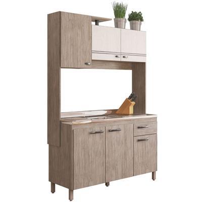 Cozinha Compacta Móveis Sul Gabi 4591 6 Portas 1 Gaveta Pérola/Branco