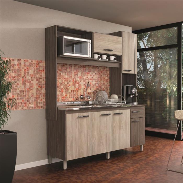 Cozinha Compacta Móveis Sul Ariana 4576 6 Portas 1 Gaveta