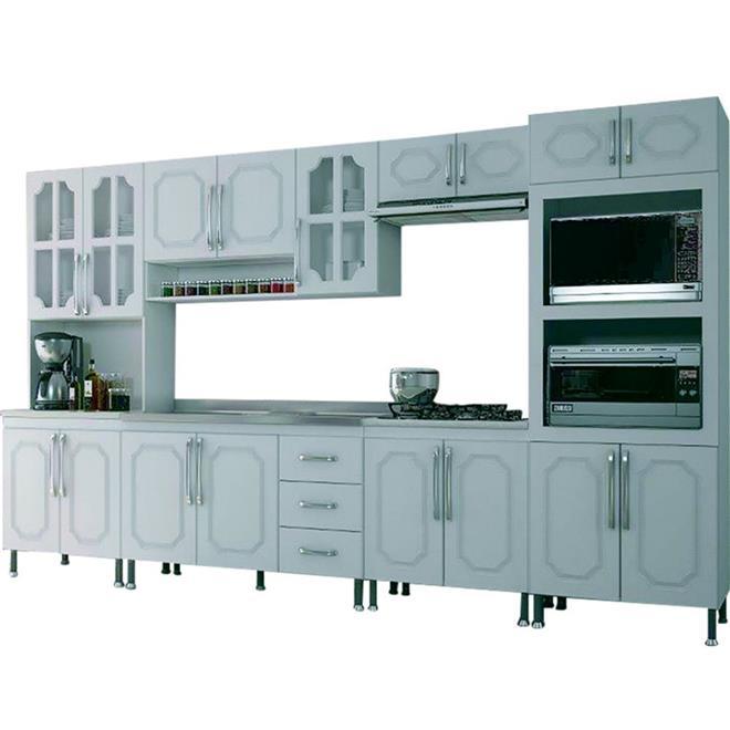 Cozinha Completa Indekes Aliança 17 Portas 3 Gavetas 6 Peças