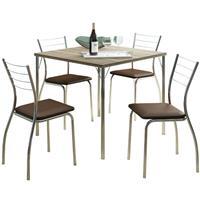 Conjunto Carraro Mesa 1545 com 4 Cadeiras 1700 Napa Estofada