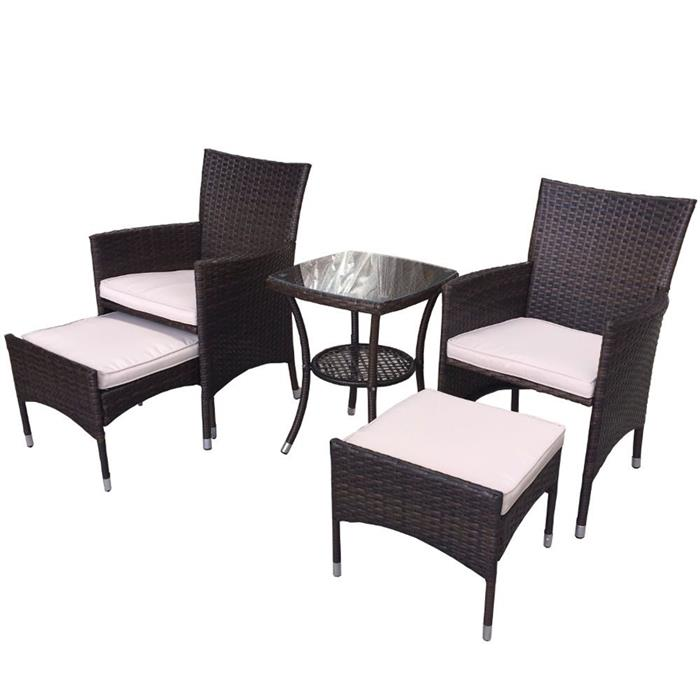 Conjunto Benoá Mesa e 2 Cadeiras TJF-R689B com Descansos de Pés