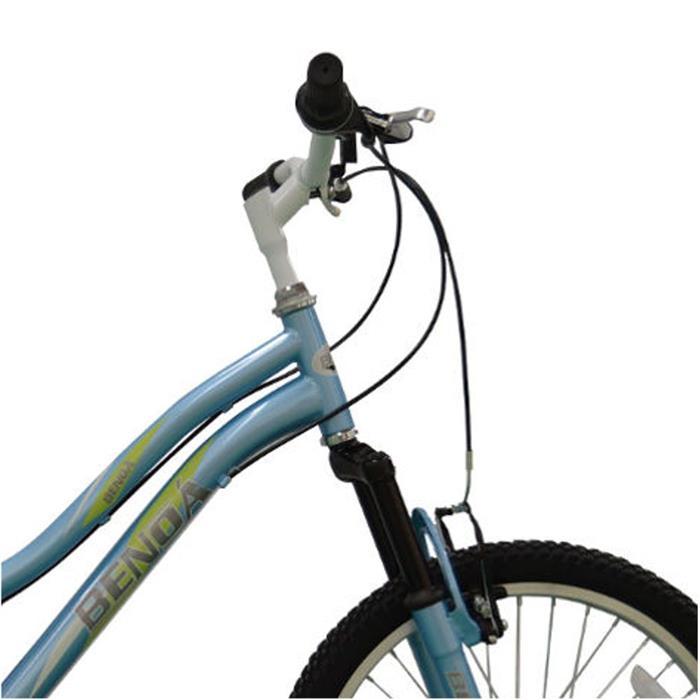 Bicicleta Benoá G20K510 6 Marchas Aro 20 com Suspensão Azul Claro