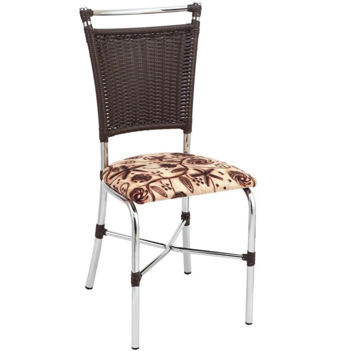 Conjunto Fil Mesa Josi 24200 com 6 Cadeiras Primavera 1892 Cromada