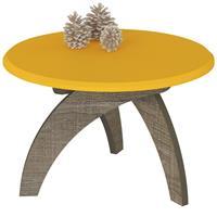 Mesa de Centro Artely Jade Amarelo/Canela