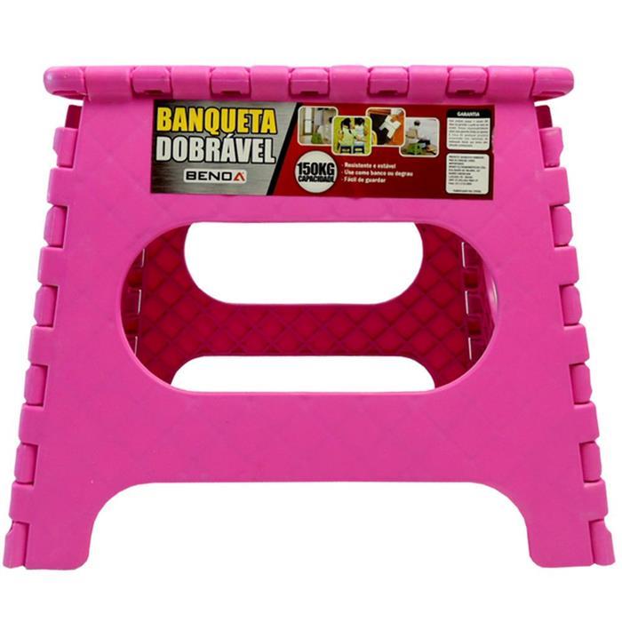 Banco Benoá SD027 Dobrável em Plástico Rosa