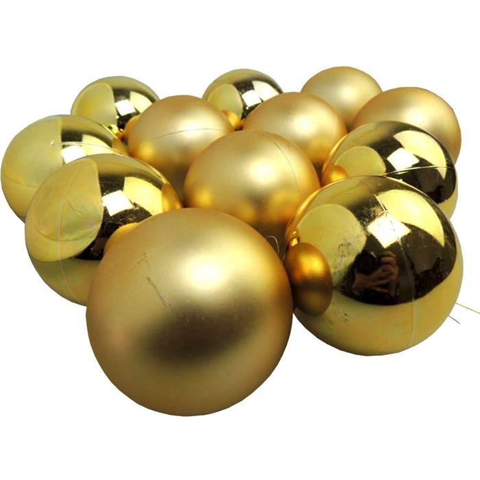 Bolinhas de Natal Benoá AR3/6012AB/G com 12 Unidades