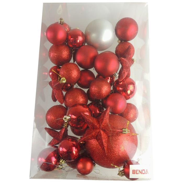 Bolinhas de Natal Benoá AR3/JT076/R com 37 Unidades