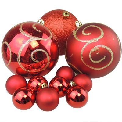 Bolinhas de Natal Benoá AR3/JT076/R com 37 Unidades Vermelho