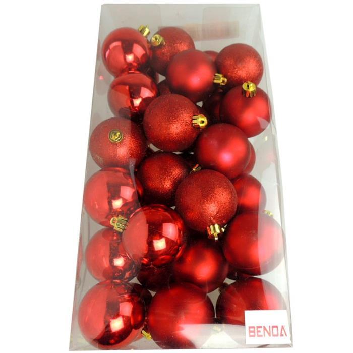 Bolinhas de Natal Benoá AR3/6012A14B10MG/R com 36 Unidades