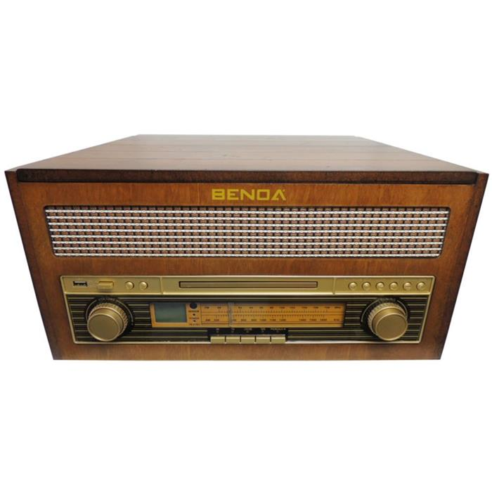 Rádio Retrô Benoá TR-W282A AM FM USB MP3 CD Toca Discos
