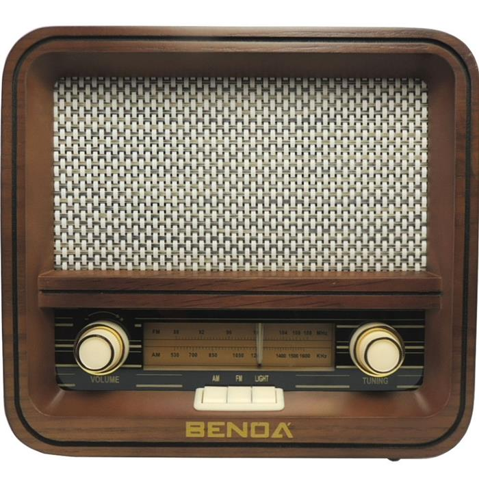 Rádio Retrô Benoá CR150 AM FM USB MP3