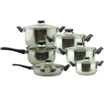 Conjunto de Panelas Benoá CW-B008 6 Peças em Aço Inox