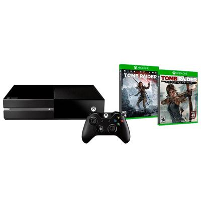 Console Microsoft Xbox One 1TB HDMI USB Bluray sem Kinect com 2 Jogos Tomb Raider (Via Download)