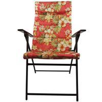 Cadeira Benoá C10088 Estofada Floral