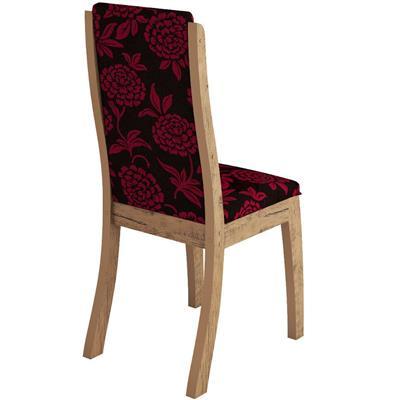 Conjunto Viero Mesa Madri com Tampo de Vidro com 6 Cadeiras Click Estofada
