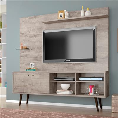 "Estante Home Bechara Turquesa para TV até 55"" 2 Portas"