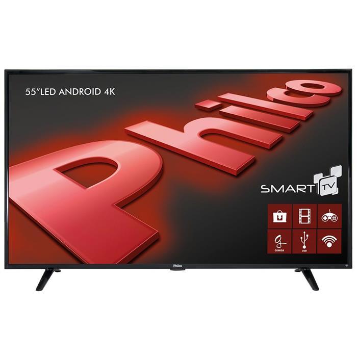 "Smart TV Philco PH55E61DSGWA 4K 55"" LED Android HDMI USB"
