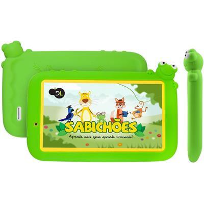 "Tablet DL Sabichões Kids Tela 7"" 8GB Wi-fi Bluetooth"