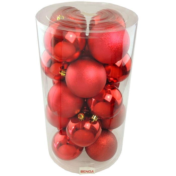 Bolinhas de Natal Benoá AR4/8010A10CMG/R05 com 20 Unidades Vermelho