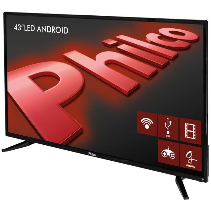 "Smart TV Philco PH43N91DSGWA 43"" LED Android HDMI USB"