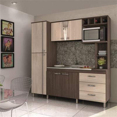 Cozinha Compacta Móveis Sul Morena 4707 6 Portas 3 Gavetas MDP