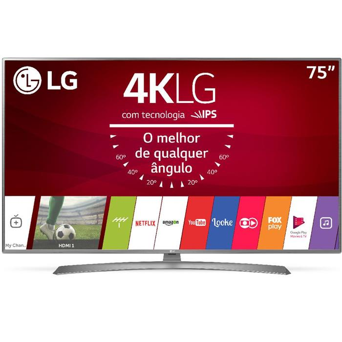 "Smart TV LG 75UJ6585 75"" Ultra HD 4K LED"