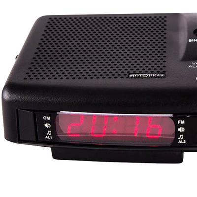Rádio Relógio Motobrás RM-RRD22 AM FM Display Digital