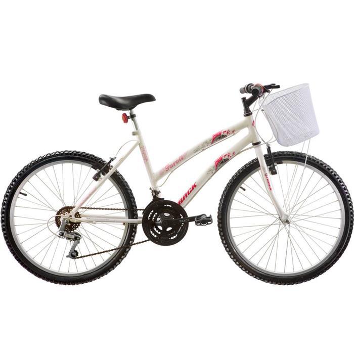 Bicicleta Track Bikes Parati 18 Marchas Aro 24 com Cesta
