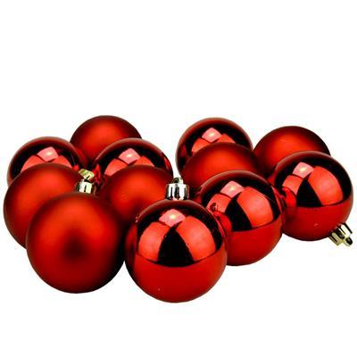Bolinhas de Natal Benoá AR3/6012AB/R com 12 Unidades Vermelho