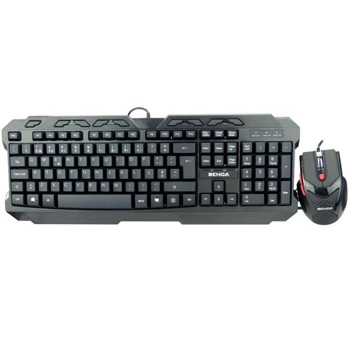 Teclado e Mouse Benoá Gamer HVK506 USB