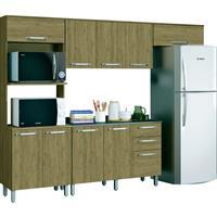 Cozinha Completa Henn Space 8 Portas 2 Gavetas 4 Peças
