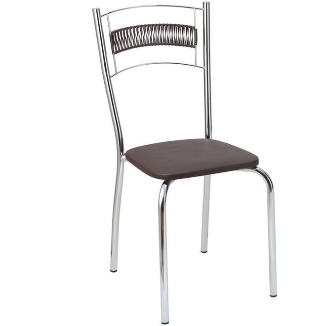 Conjunto Fil Catia Mesa Tampo MDP com 4 Cadeiras Cromada