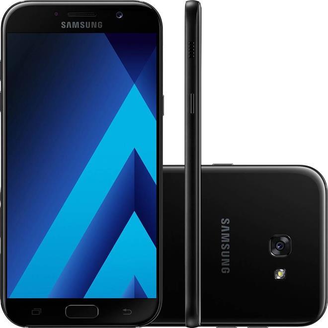 "Smartphone Samsung Galaxy A5 2017 64GB Dual Chip Câm 16MP + Frontal 16MP Tela 5.2"" Octacore"
