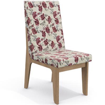 Conjunto Kappesberg Mesa CSJ007-NO MDP com 6 Cadeiras 2CAD102 E004 MDF Estofada