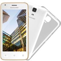 "Smartphone Multilaser MS45S Tela 4.5"" Quadcore 1GB RAM Câm 5MP + Frontal 3MP 8GB Dourado"