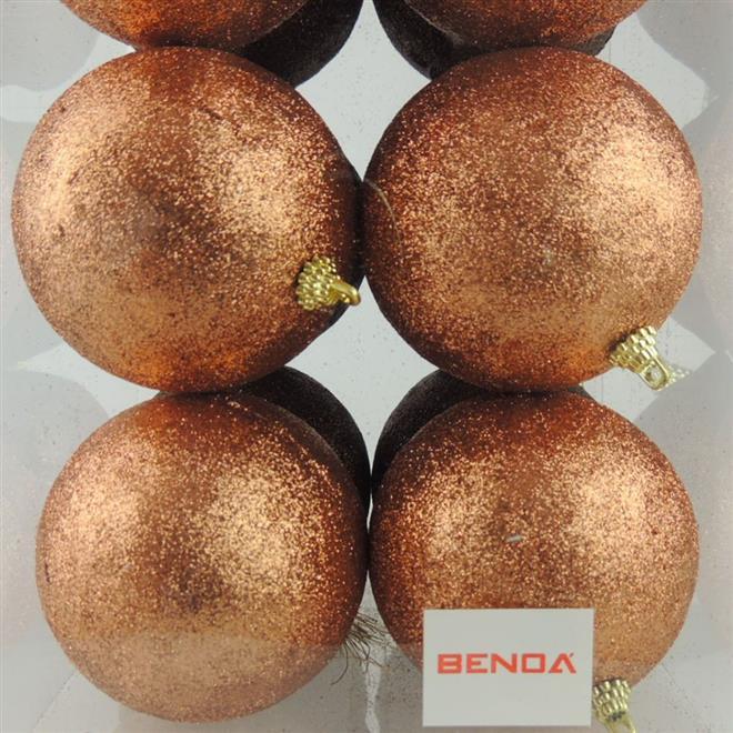Bolinhas de Natal Benoá D44-38016 com 16 Unidades Marrom