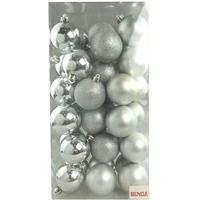 Bolinhas de Natal Benoá AR3/6012A14B10MG/S com 36 Unidades Prata
