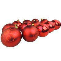 Bolinhas de Natal Benoá AR3/AB8012H111 com 12 Unidades Vermelho