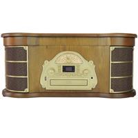Rádio Benoá TR-W172 Retrô AM FM USB C CD Fita e Disco