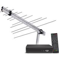 Kit Receptor Digital e Antena Cromus KTVD20 95,6cm