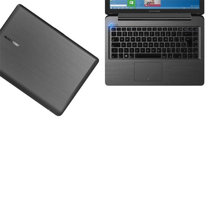 "Notebook Multilaser PC201 Tela 14"" Dualcore 32GB 4GB RAM Windows 10"