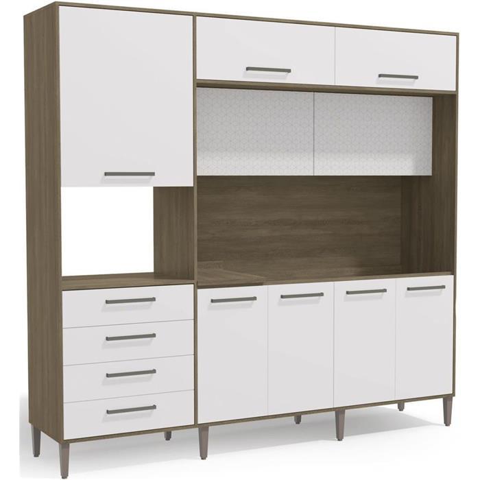 Cozinha Compacta Kappesberg G780 9 Portas 4 Gavetas